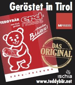 Teddybär Erdnüsse Nikolo Packung